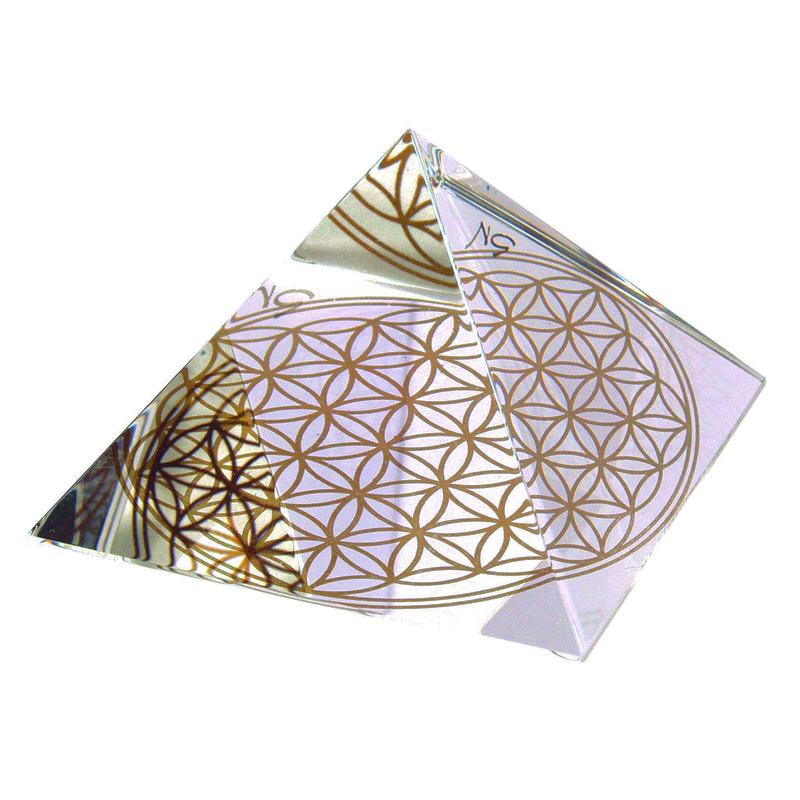 Energie-Pyramide m. Blume des Lebens