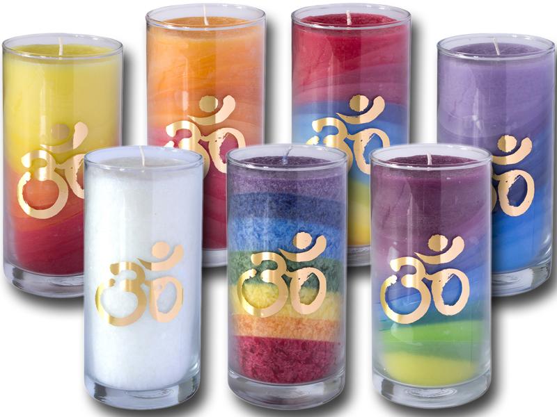 Stearin Kerzen OM im Glas RSPO