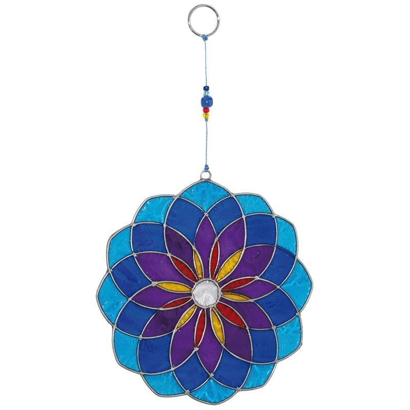 suncatcher mandala blau mobile 18 50 kan yu i. Black Bedroom Furniture Sets. Home Design Ideas