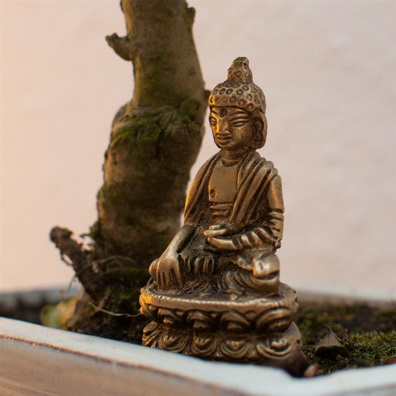 Buddha figur aus messing ca 5 cm bhumisparsa mudra 7 5 for Buddha figur