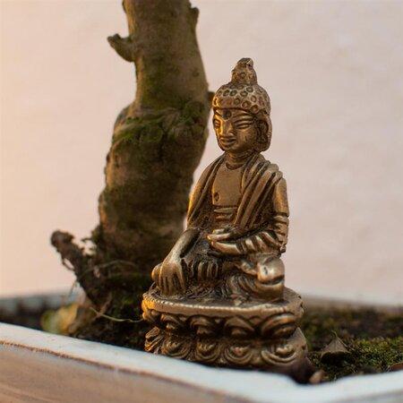 Stimmungsvolles Buddha Set 18,5cm x 25 cm x 13 cm Feng Shui Asien Figur Teelicht