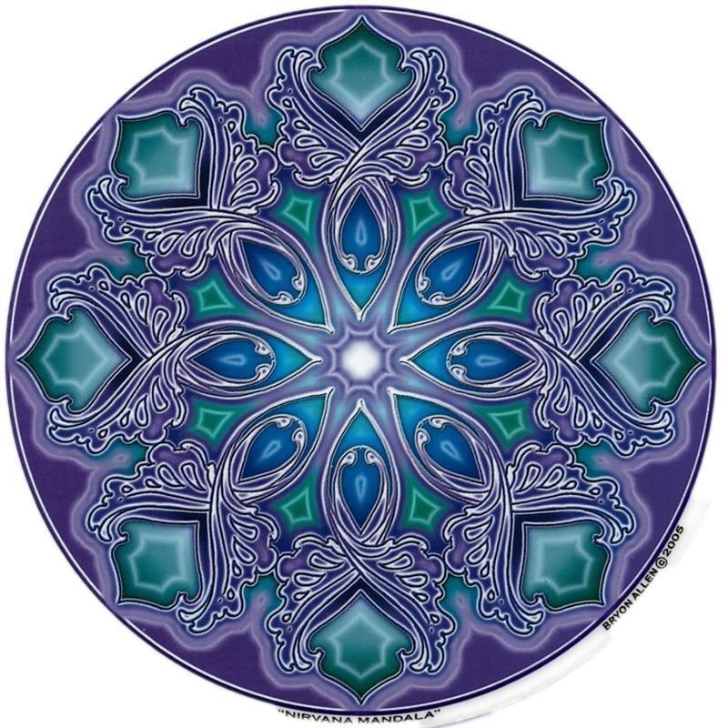 fensterbild nirvana mandala aufkleber spiegel glas 4 90. Black Bedroom Furniture Sets. Home Design Ideas
