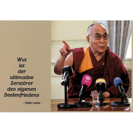 Motivationskarte Seelenfrieden Dalai Lama Lebensweisheit