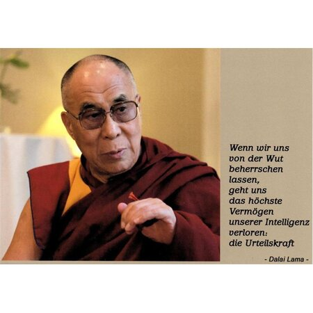 Motivationskarte Urteilskraft Dalai Lama Lebensweisheit