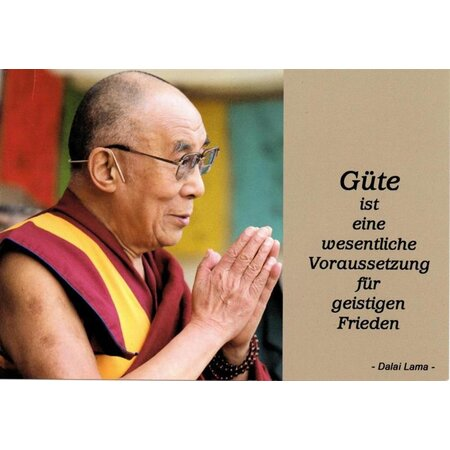 Motivationskarte Güte Dalai Lama Lebensweisheit