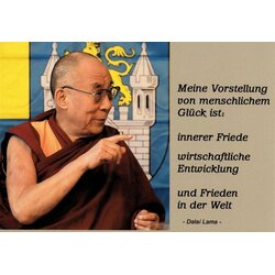 Motivationskarte Innerer Frieden Dalai Lama Lebensweisheit