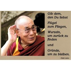Motivationskarte Liebe Dalai Lama Lebensweisheit