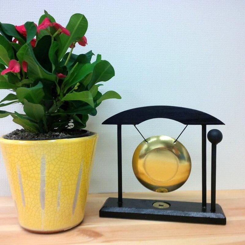 tischgong mit asia holzrahmen mit k ppel und gl cksm n. Black Bedroom Furniture Sets. Home Design Ideas