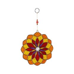 Suncatcher Mandala rot gelb orange Mobile