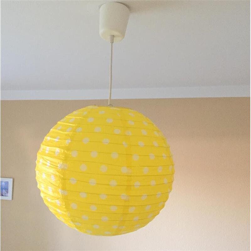 lampion p nktchen gelb mit wei en punkten rund. Black Bedroom Furniture Sets. Home Design Ideas