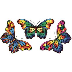 Fensterbild SCHMETTERLING 3er Set Magic Butterflies