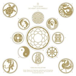 Feng Shui Sticker Set 13 Symbole