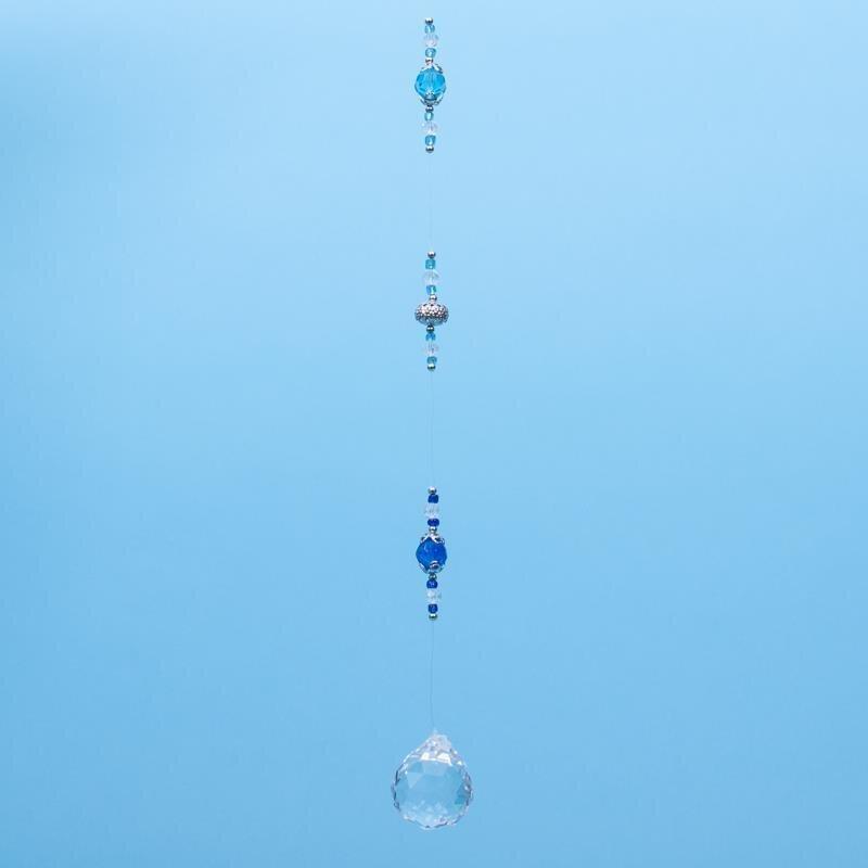 Illusion Dancer 22 cm Kugelspirale Blaue Kristallkugel 40 mm