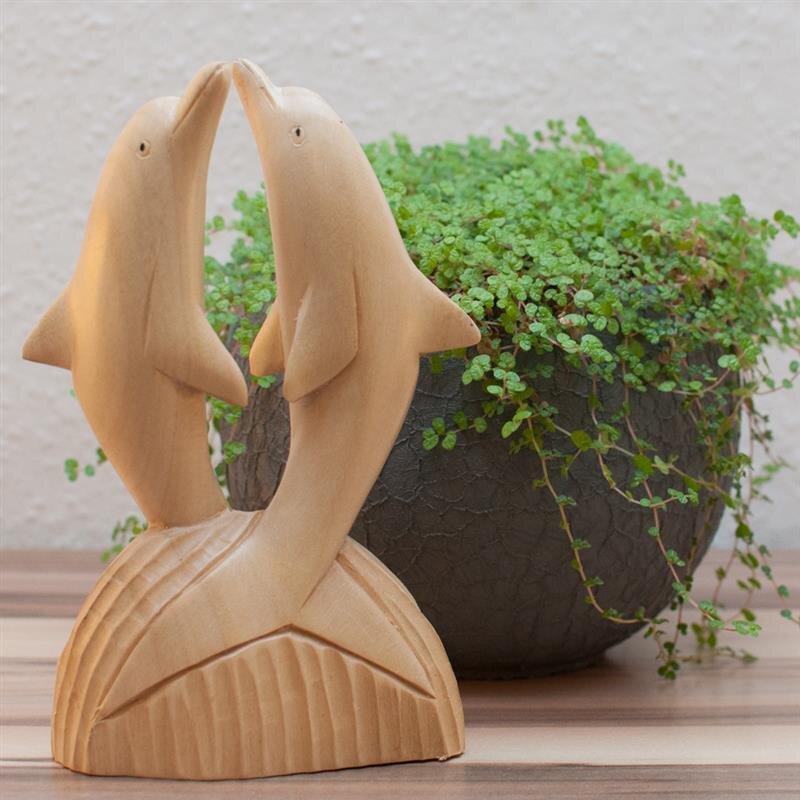 delfin paar holz natur gr e 15 cm 13 80 kan yu. Black Bedroom Furniture Sets. Home Design Ideas