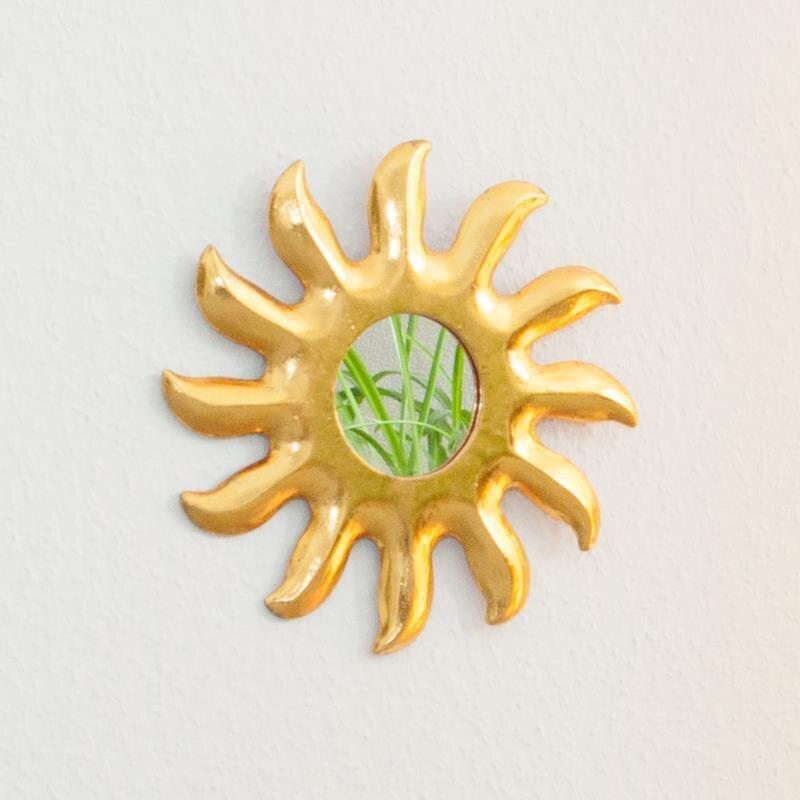 spiegel sonne gold ca 20 cm 10 70 k. Black Bedroom Furniture Sets. Home Design Ideas