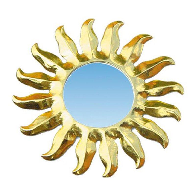 spiegel sonne gold holz rund 20 cm 11 80 kan yu. Black Bedroom Furniture Sets. Home Design Ideas