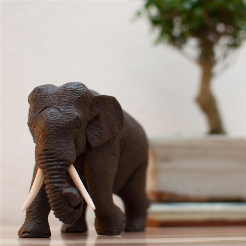 elefant schutz handgeschnitzt laufend teakholz gewachst. Black Bedroom Furniture Sets. Home Design Ideas